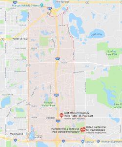 Map of Oakdale, Minnesota