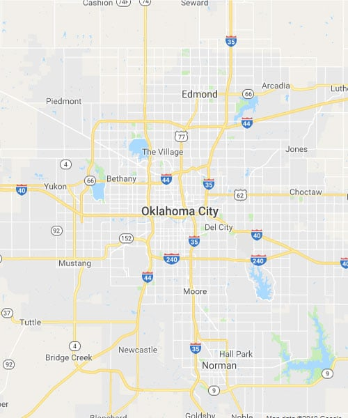 Map of Oklahoma City, Oklahoma