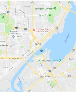 Map of Peoria, Arizona