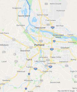 Map of Hood River Oregon