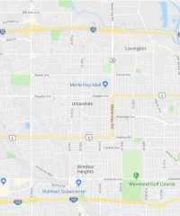Map of Urbandale, Iowa