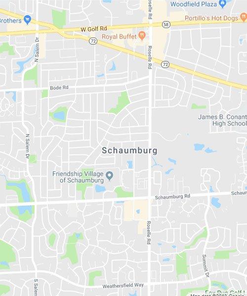 Map of Schaumburg Illinois