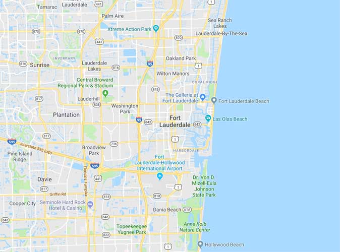Ft Lauderdale On Map Of Florida.Fort Lauderdale Map Aqua Living Factory Outlets