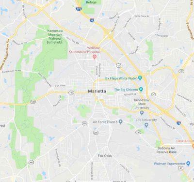 Map of Marietta, Georgia