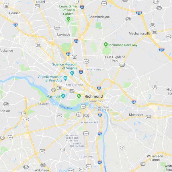 Map of Richmond, Virginia