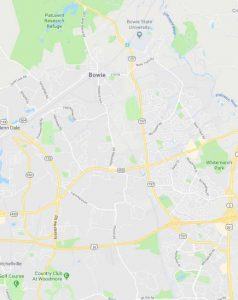 Map of Bowie, Maryland