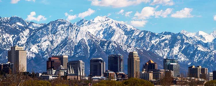 Salt Lake City, Utah skyline