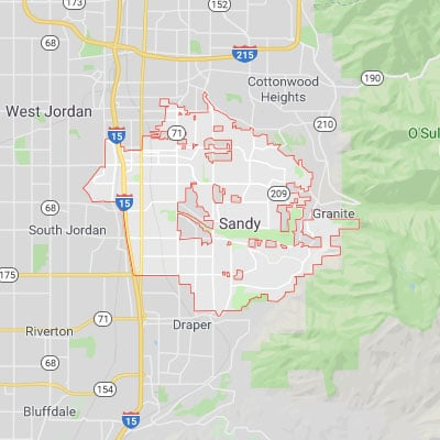 Map of Sandy, Utah