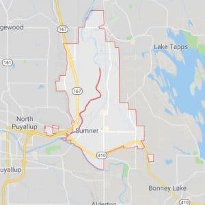Map of Sumner city