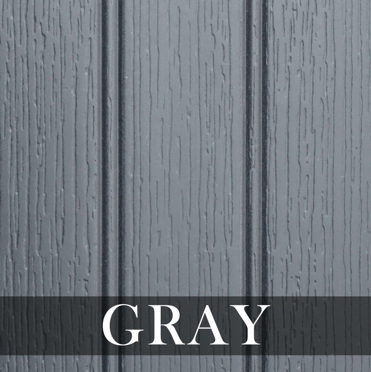Gray Hot Tub Cabinet