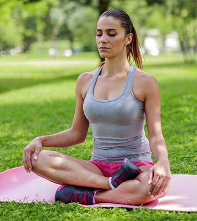 yoga breathing before hot tub