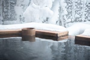 Hot tub in winter weather
