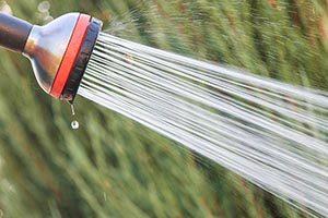 Small garden hose faucet