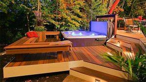 Hot tub bench