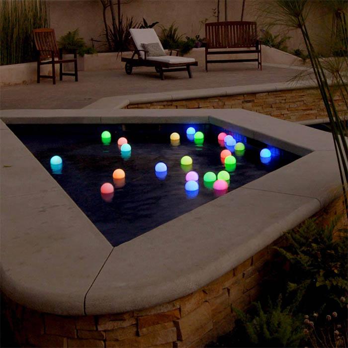 Hot tub lighting decorations