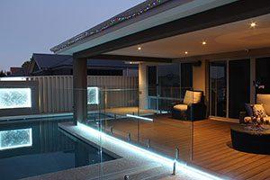 Hot tub backyard lighting