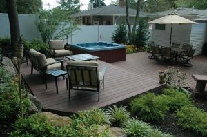 Hot tub patio ideas