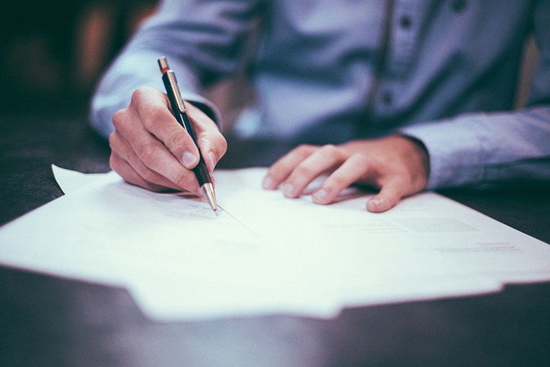 Signing hot tub permit application