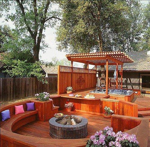 Hot Tub Redwood Deck