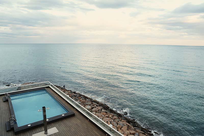 Above ground swim spa