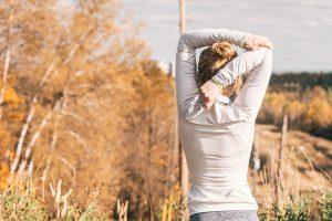 Woman on a morning run