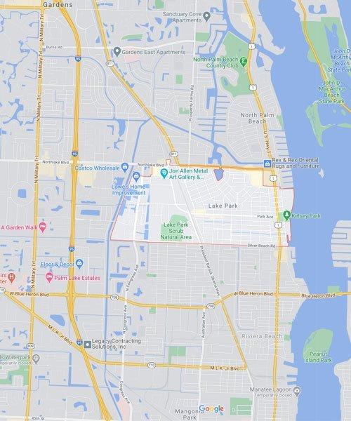Map of Lake Park Florida